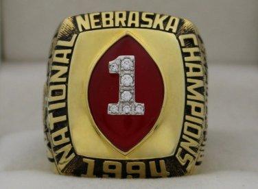 1994 Nebraska Cornhuskers NCAA National Championship Rings Ring