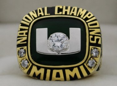 2001 Miami Hurricanes NCAA National Championship Rings Ring