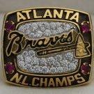 1996 Atlanta Braves NL National League World Series Championship Rings Ring