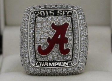 2015 Alabama Crimson Tide NCAA SEC National Championship Rings Ring
