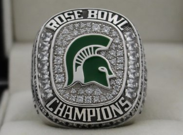 2013 Michigan State Spartans NCAA Rose Bowl and Big Ten Championship Rings Ring