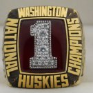 1991 Washington Huskies NCAA National Championship Rings Ring