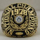 1978 Alabama Crimson Tide National Championship Rings Ring