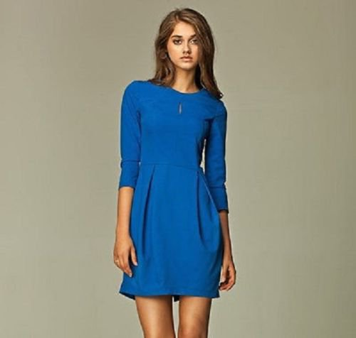 Classic and Iconic Style Blue Ladies Tulip Dress  SIZE UK 16