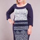 Ladies Plus Size Paneled Dress SIZE UK 20