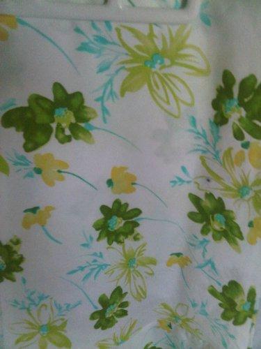 Von Mozart  White Floral Ruffle Skirt  S Cotton Slip On