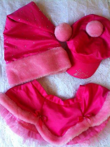 Victoria's Secret 3PC Set Hats Skirt OS S M L Swarovski Bling Sexy Little Things