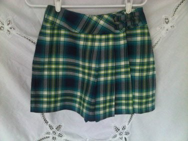 Limited Too Plaid Skort Skirt Shorts 14