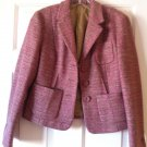 Ann Taylor Loft Tweed Three Button Blazer Virgin Wool Pink NWOT 6