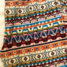 Fitted Footless Fashionable Leggings Tribal Multi One Size Fits All Stretch