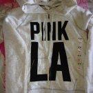 Victoria's Secret Pink LA Graphic Logo Zip Hoodie M