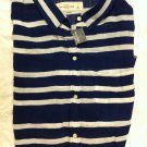 Abercrombie & Fitch Striped Sleeveless Button-down Shirt L