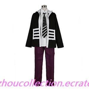 Uta no Prince Shinomiya Natsuki Cool Black Cosplay Costume (FREE SHIPPING)