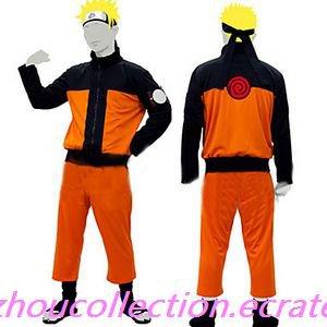 Naruto Uzumaki Cosplay Costume Suit (FREE SHIPPING)