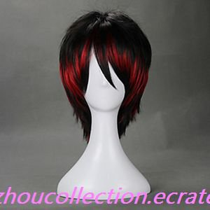 Punk Style Black and Red Mixed Color Oji Lolita Wig(FREE SHIPPING)