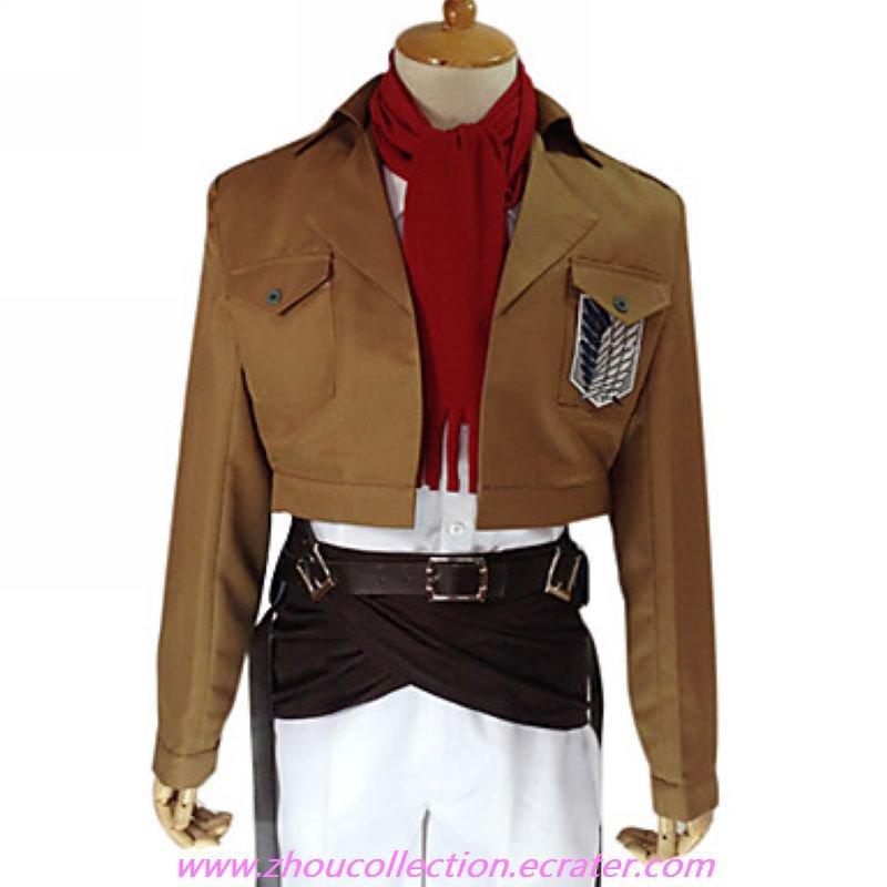 Attack on Titan Mikasa Ackerman  Survey Corp  Uniform(FREE SHIPPING)