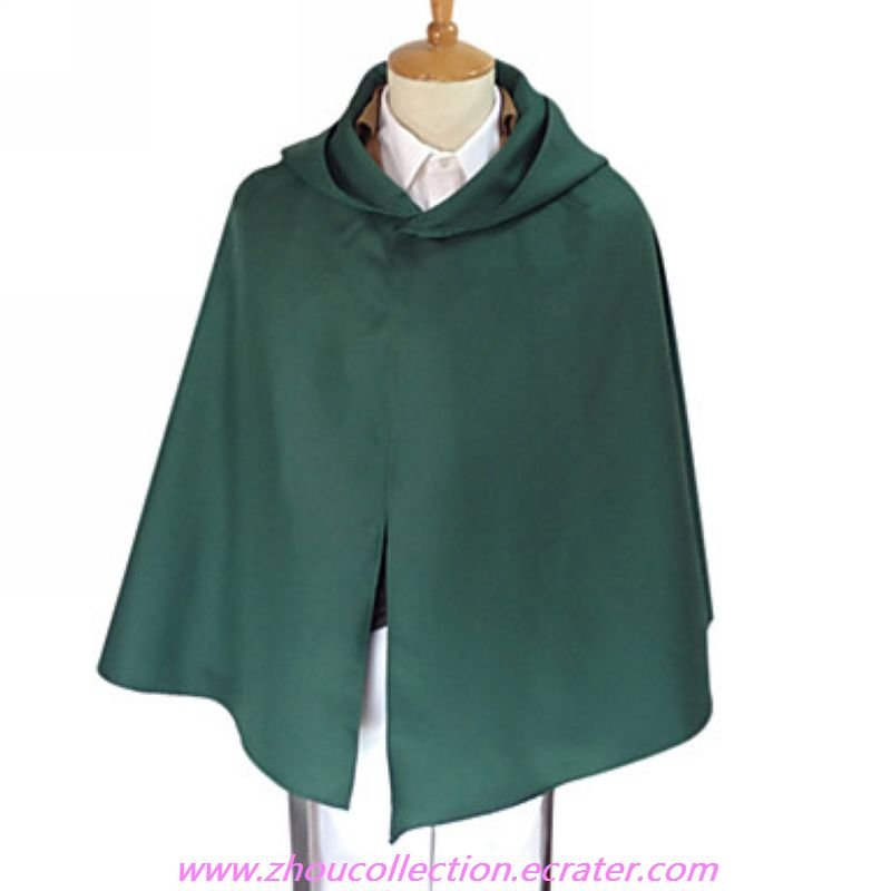 Attack on Titan Commander of the Survey Corps Erwin Smith Cosplay Costume  with Cape (FREE SHIPPING)