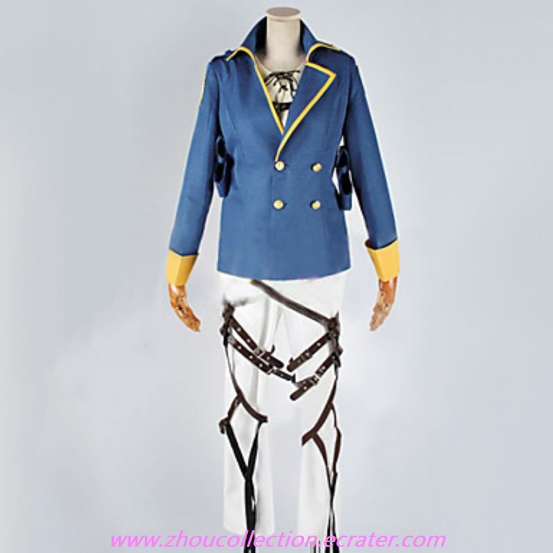 Attack on Titan Eren Jager Cosplay Suit With 2 Badges(FREE SHIPPING)