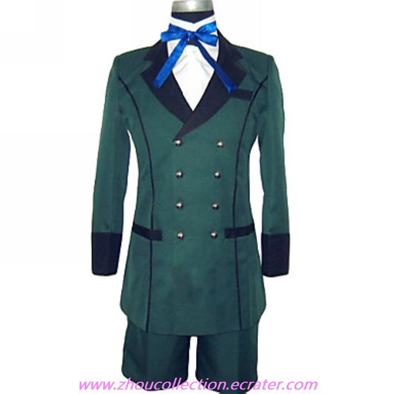 Ciel Phantomhive Green Cosplay Costume(FREE SHIPPING)
