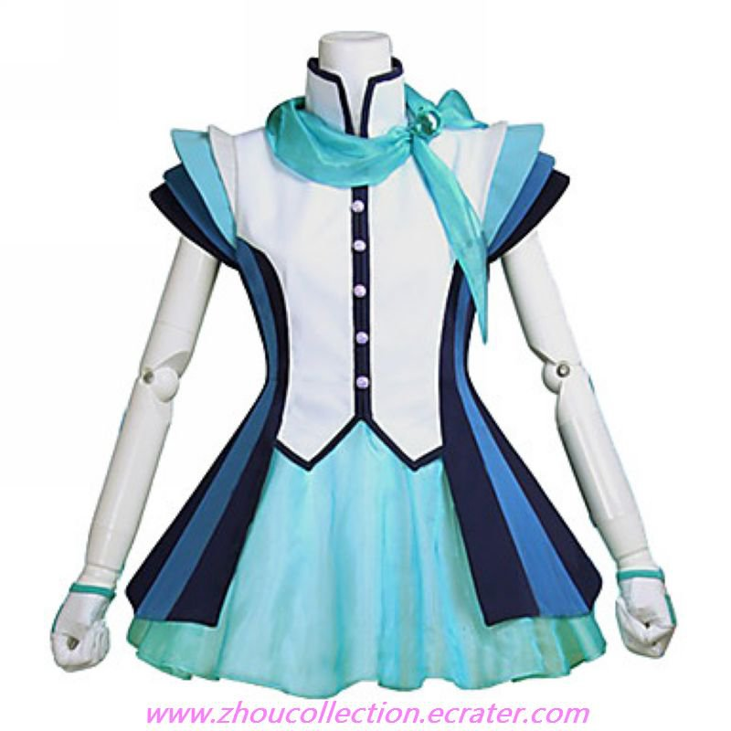 Vocaloid 3 Aoki Lapis Cosplay Costume(FREE SHIPPING)
