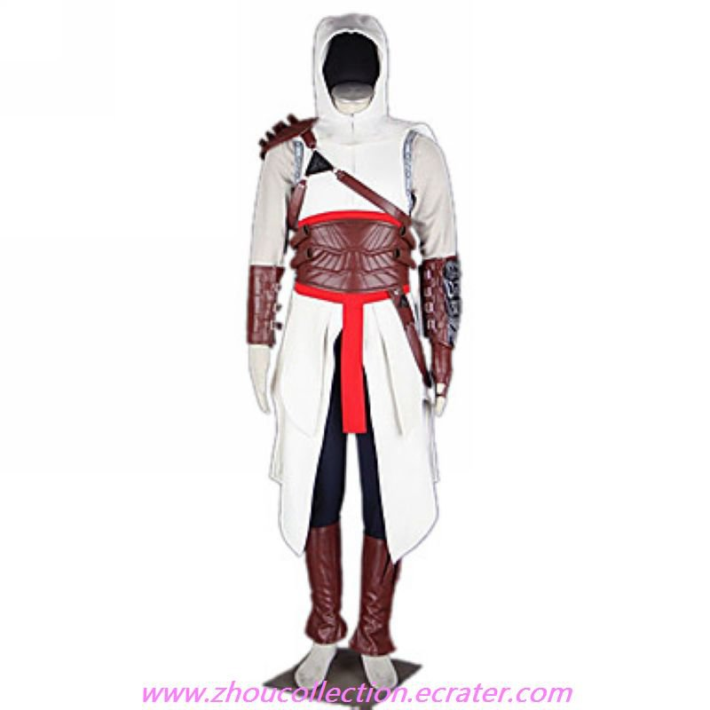Altair White Uniform Cloth Cosplay Costume(FREE SHIPPING)
