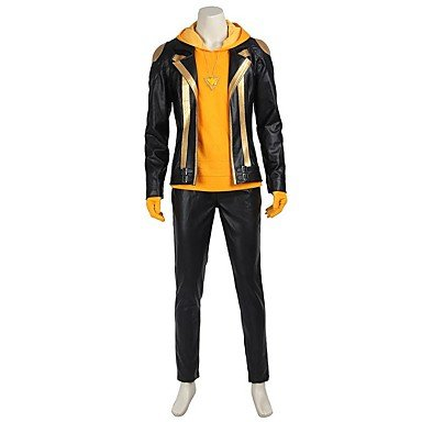 Cosplay Suits Cosplay Tops Bottoms Patchwork Black GoldenCoat Top Hakama Pants
