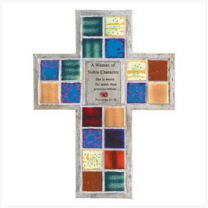 Noble Woman Mosaic Cross