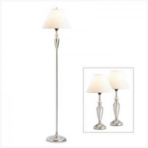 Mixed Material Lamp Set