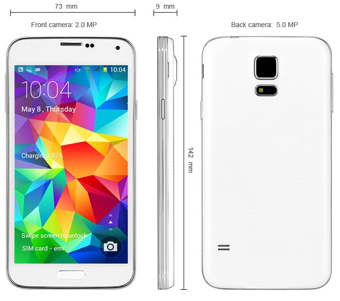 Free shipping  Android 4.4 3G Phablet with 5.0 inch Smart Scroll Function GPS WiFi
