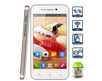 Free shipping F23 Android 4.2 Unlocked Phone with 4.0 inch WVGA Screen