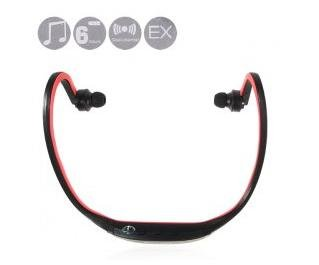free shipping Sport MP3 Player Headset with FM Radio TF Card Supported