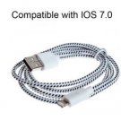 Free shipping Marking Pattern High Speed 8pin Compatible with IOS7.0 Cable for iPhone 5, 5S, 5C/iPad