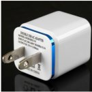 US Standard Double USB Ports Charger Power Adapter for iPhone 5 5S 5C 4 4S
