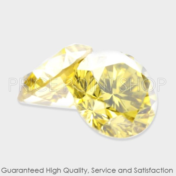 0.23 ctw, 2.88 mm, Canary Yellow, SI-3 Clarity, Round Cut Natural Diamonds Pair