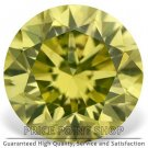 0.30 ctw, 4.26 mm Size, Canary Yellow, SI1 Clarity, Round Brilliant Real Diamonds