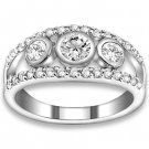0.63 ctw 14k WG Natural I-J Color, VS - SI Clarity, Accent Diamonds Engagement Rings