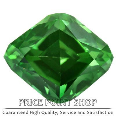 0.52 ctw, 5.86 x 4.76 mm Size, Pine Green, VS1 Clarity, Fancy Cut Loose Diamonds