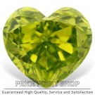 0.28 ctw, 4.20 mm x 3.84 mm, Lime Color, VVS1 Clarity, Heart Shape Loose Diamonds