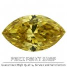 0.26 ctw, 5.81 x 3.39 mm, Canary Yellow, VVS1 Clarity, Marquise Cut Real Diamonds