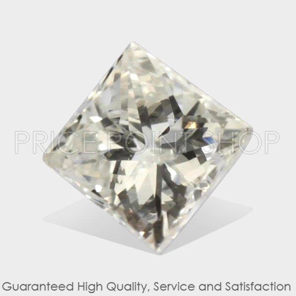 0.10 ctw, 2.50 mm x 2.47 mm, H Color, I-1 Clarity, Princess Cut Natural Diamonds