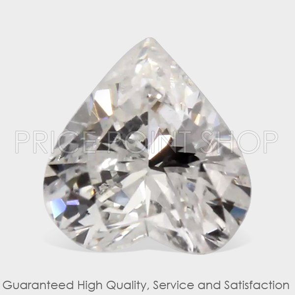0.50 ctw, 5.42 mm x 5.18 mm, F Color, I-1 Clarity, Heart Shape Natural Diamonds