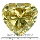 0.20 ctw, 3.80 x 3.53 mm, Canary Yellow, VVS1 Clarity, Heart Shape Loose Diamonds