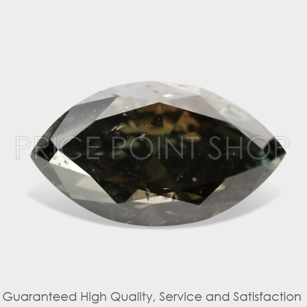 1.29 ctw, 9.14 x 5.20 mm, Gray Color, SI2 Clarity, Marquise Cut Natural Diamonds