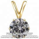 0.25 ctw 6 Prong Basket H-I Color SI Clarity Certified Solitaire round Diamonds Pendants