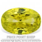 0.33 ctw, 5.17x3.46 mm, Canary Yellow Color, VS1 Clarity, Oval Cut Real Diamonds