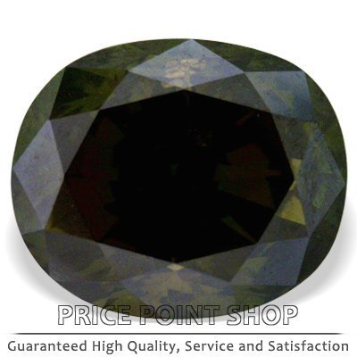 1.02 ctw, 6.28 x 5.26 mm, Kiwi Green Color, SI2 Clarity, Oval Cut Loose Diamonds