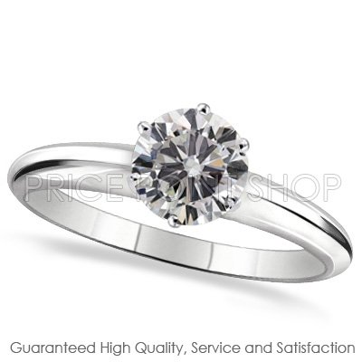 14k White Gold 0.75 ctw I - J Color VS - SI Clarity Certified Solitaire Diamonds Engagement Rings