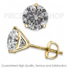 1.50 ctw Back G - H Color, I1 Clarity Round Brilliant Certified Diamonds Studs Earrings