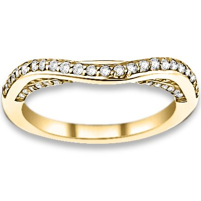 0.33 ctw 14k Yellow Gold I-J Color VS-SI Clarity Natural Round Diamonds Wedding Bands
