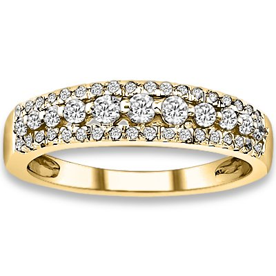 0.43 ctw 14k Yellow Gold I-J Color VS-SI Clarity Natural Round Diamonds Wedding Bands